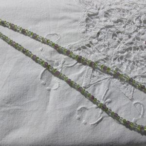 Collar de cuarzo, amatistas y olivino (3)