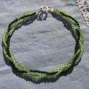 Pulsera de hombre de jade, olivino y ágatas (2)